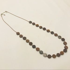 American Eagle wood disc necklace 🦅